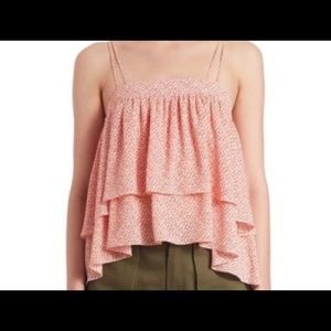 Prose & Poetry 2 tiered Ruffle Top L